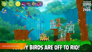 Angry Birds Rio Mod Apk [Unlimited Items] 2021 1