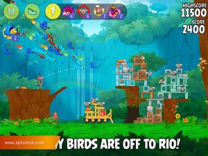 Angry Birds Rio Mod Apk [Unlimited Items] 2021 6
